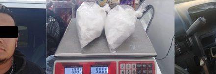 """¡Jalisciense fue detenido con 1 kilo de """"crystal"""" al intentar ingresar a Aguascalientes!"""
