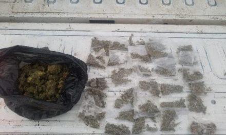 ¡PEP aseguró dosis de marihuana y detuvo a un hombre en Luis Moya!