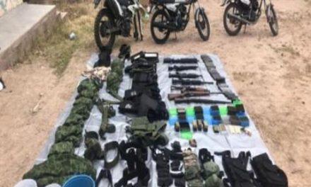 ¡Guardia Nacional aseguró armas de fuego y equipo táctico en Río Grande!