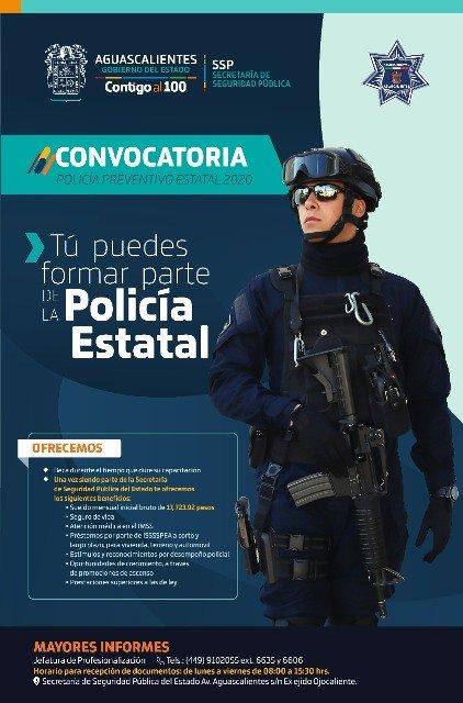 ¡Abre la SSPE convocatoria para policía estatal!