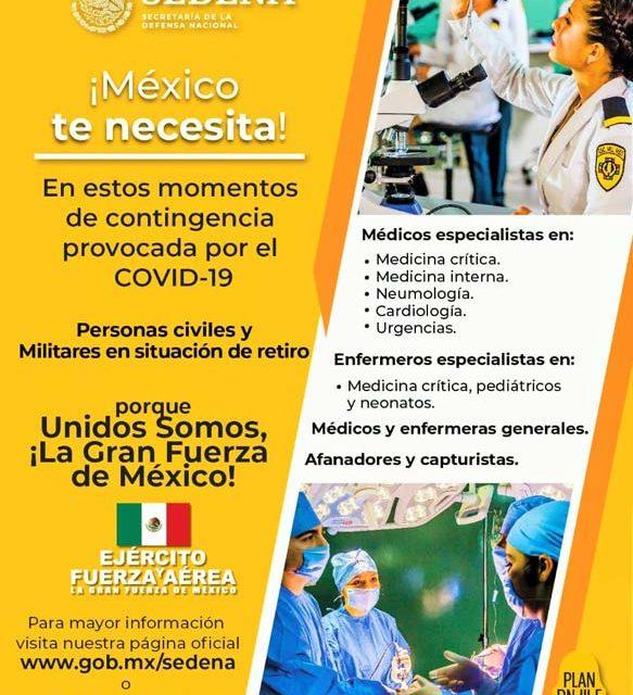 ¡México te necesita!