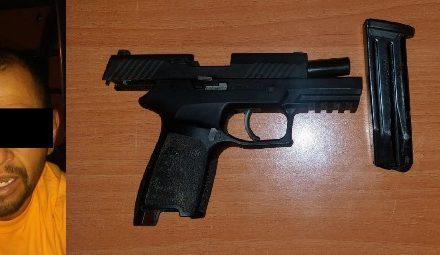 ¡Vecino de Fresnillo fue detenido con un arma de fuego en Aguascalientes!