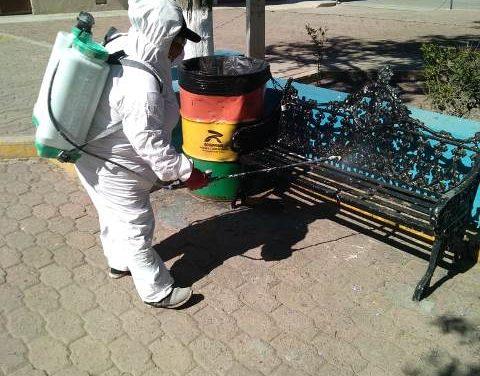 ¡Continúan las labores de desinfección en el municipio de Jesús María!