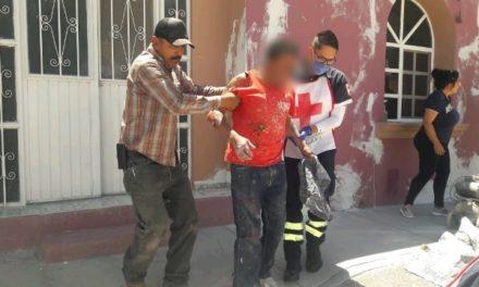 ¡Hombre se salvó de morir electrocutado mientras pintaba una casa en Aguascalientes!