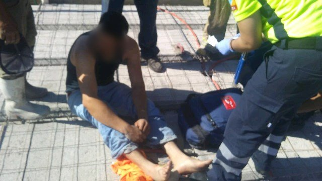 ¡Joven se salvó de morir electrocutado en una obra en Calvillo, Aguascalientes!