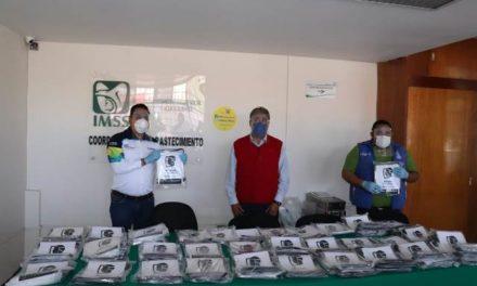 ¡Órgano Interno de Control del Municipio de Aguascalientes dona caretas protectoras al IMSS!