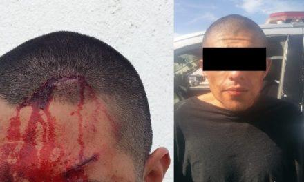 """¡""""El Cholo"""" lesionó a un policía en Calvillo, Aguascalientes, y fue detenido!"""