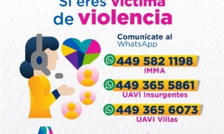 ¡IMMA habilita líneas de WhatsApp para auxiliar a mujeres en situación de violencia!