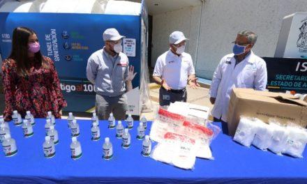 ¡Recibe ISSEA donación de Nissan Mexicana de equipo de protección y gel antibacterial!