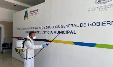 ¡Desinfecta Municipio instalaciones de la Dirección de Justicia Municipal!