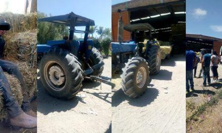 ¡Adolescente fue aplastado por un tractor agrícola en Aguascalientes y vive!