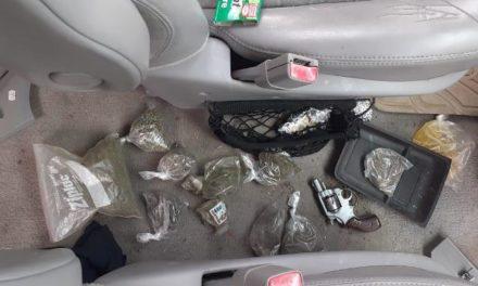 ¡PEP aseguró un arma de fuego y dosis de marihuana en Río Grande!