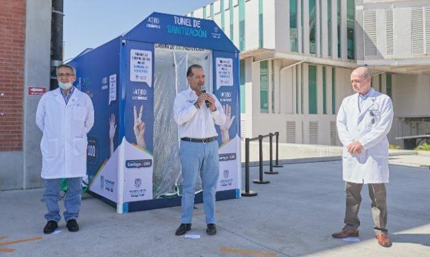 ¡Gobierno del Estado habilita túneles sanitizadores en puntos de alta concentración poblacional en Aguascalientes!