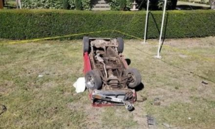 ¡1 muerto y 1 lesionada tras volcadura de una camioneta en Tlaltenango!