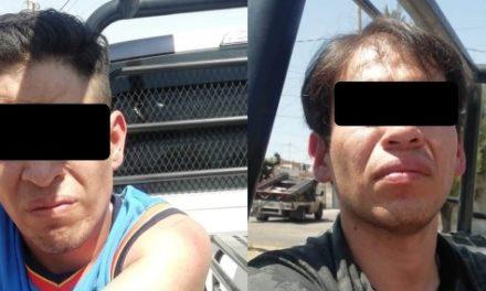 ¡Policías estatales de Aguascalientes detuvieron a 2 sujetos con casi un kilo y medio de marihuana!