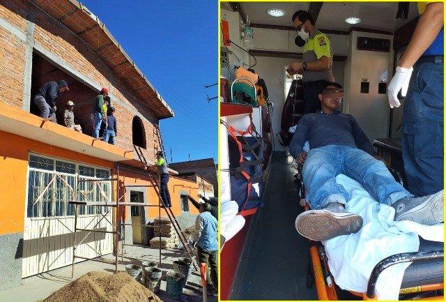 ¡Joven albañil se salvó de morir electrocutado en Rincón de Romos, Aguascalientes!