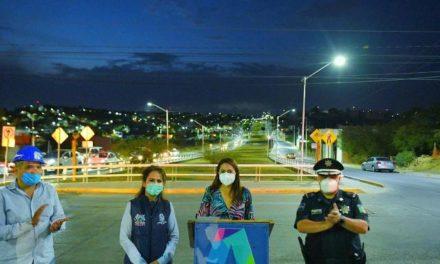 ¡Tere Jiménez entrega nueva iluminación LED en el oriente de la ciudad!