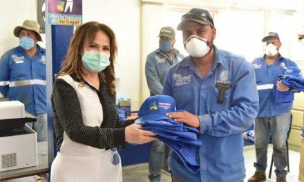 ¡Entregan uniformes a trabajadores del Relleno Sanitario de San Nicolás!