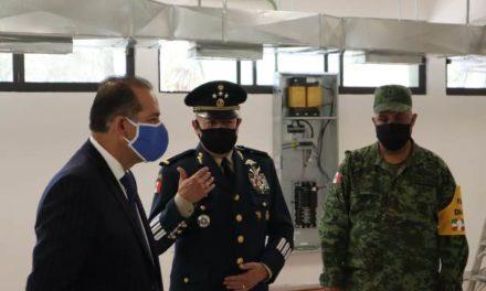 ¡Visita Orozco Sandoval zona adaptada por Ejército para atención a pacientes COVID-19!