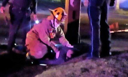 ¡Fatal choque-atropello en Aguascalientes dejó 1 muerto y 1 lesionado!