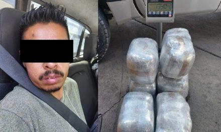 ¡Detuvieron a distribuidor de drogas con casi 14 kilos de marihuana en Aguascalientes!