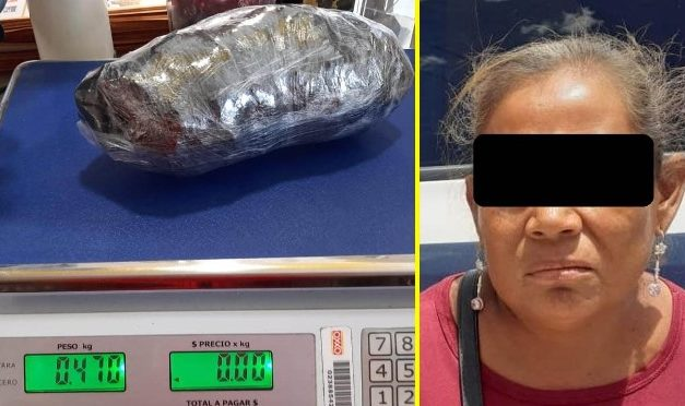 """¡Detuvieron a una mujer con casi medio kilo de """"crystal"""" en Calvillo, Aguascalientes!"""