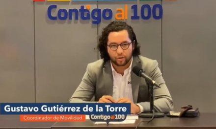 ¡A partir del lunes aumentó en un 15 por ciento el número de usuarios de transporte público: Gustavo Gutiérrez de la Torre!