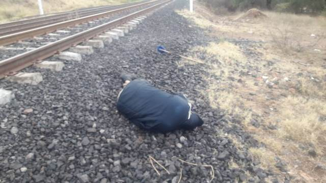 ¡Agoniza hombre atropellado por el tren en Aguascalientes!