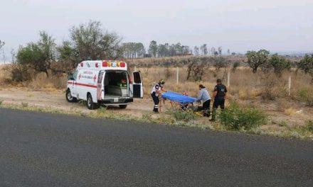 ¡Ciclista fue embestido por un tráiler en Aguascalientes y resultó lesionado de consideración!