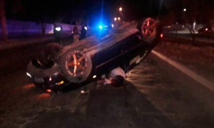 ¡Ebrio automovilista se mató tras una volcadura en Aguascalientes!