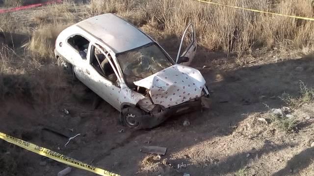 ¡Mujer se mató tras accidentarse en su auto en Aguascalientes!