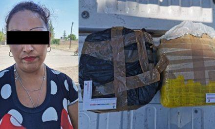 ¡Otro golpe de la SSPE al narcomenudeo: fue detenida una mujer con casi cuatro kilos de marihuana!