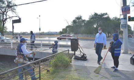 ¡Realizan labores de limpieza y desmalezado de manera coordinada los municipios de Jesús María y Aguascalientes!