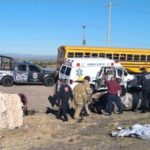 ¡Camioneta chocó contra un tractocamión en Fresnillo: cuatro heridos graves!