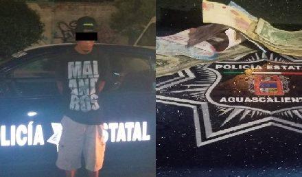 ¡Policías estatales de Aguascalientes detuvieron a delincuente que asaltó a un taxista!