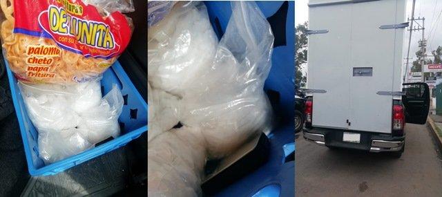 """¡Capturan elementos de la SSPE a sujeto que transportaba cinco kilos de droga """"crystal""""!"""