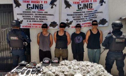 ¡Capturaron a integrantes de un grupo delictivo de Zacatecas en Calvillo, Aguascalientes!