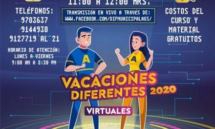 "¡Invita DIF Municipal a curso de verano virtual ""Vacaciones Diferentes""!"