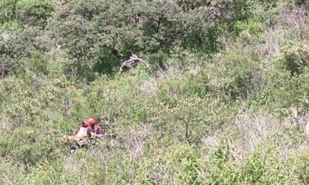 ¡Joven que paseaba en cuatrimoto murió al desbarrancarse en la Sierra Fría en Aguascalientes!