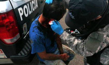¡Hombre fue lesionado a batazos por dos delincuentes por impedirles un robo en Aguascalientes!
