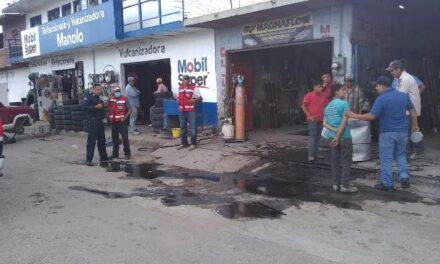 ¡Flamazo en un taller de balconería en Aguascalientes dejó un lesionado con quemaduras!