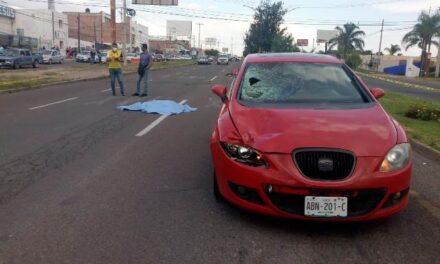 ¡Mujer falleció atropellada por un automóvil en Aguascalientes!