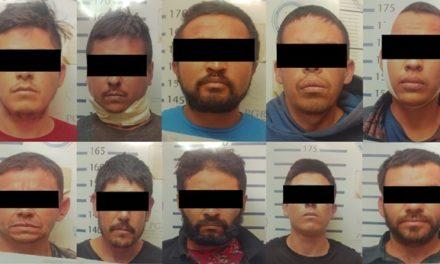 ¡Obtuvo FGR sentencia para 10 sicarios detenidos con un arsenal en Jalostotitlán!