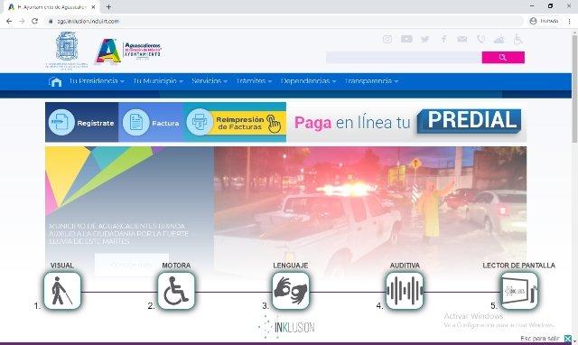 ¡Portal web del Municipio es incluyente y de fácil acceso para personas con discapacidad!