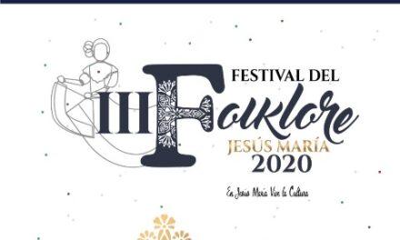 ¡Presenta Jesús María el Tercer Festival del Folklore en línea!