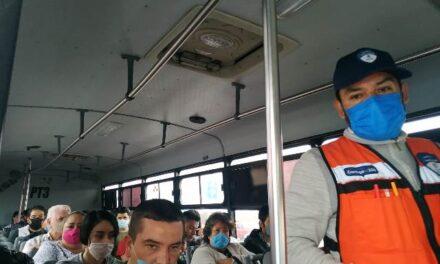 ¡Revisa Guardia Sanitaria a más unidades del transporte público!