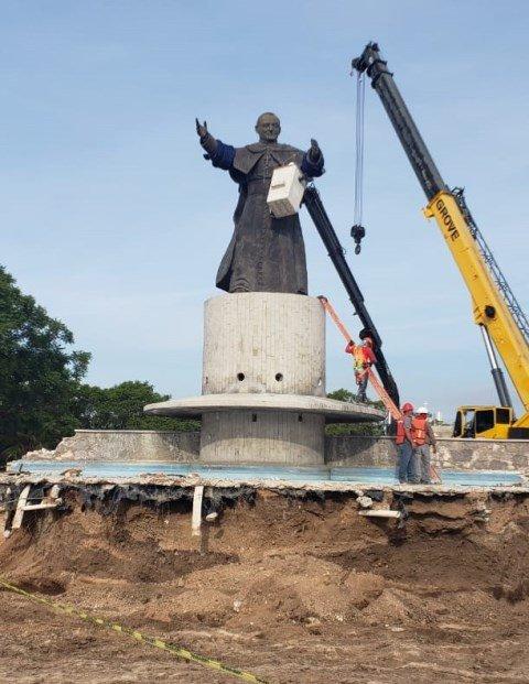 ¡Se reubica el monumento a San Juan Pablo II!
