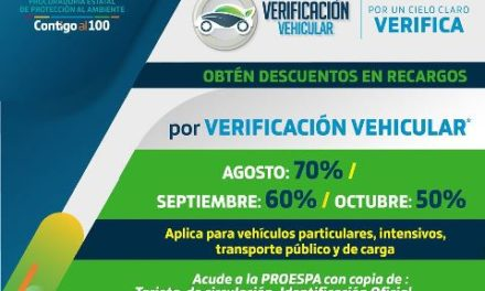 ¡PROESPA ofrece descuento en multas de verificación vehicular!