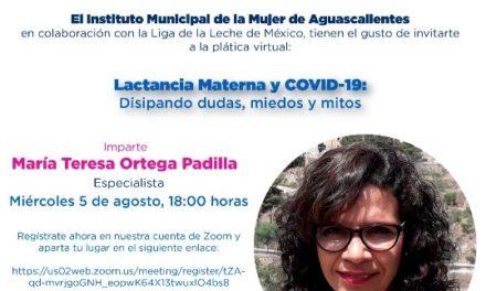¡Invita Municipio a conferencia lactancia materna y COVID-19, disipando dudas, miedos y mitos!