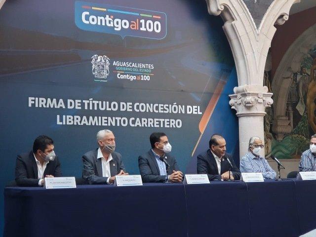 ¡Firman título de concesión de Libramiento Carretero, la obra deberá de estar terminada en junio del 2022!